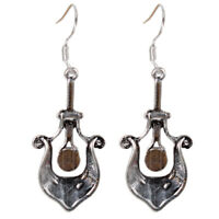 Antique Silver Color Carved Earrings Vintage Ethnic Boho Gypsy Drop Earrings Y