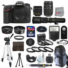 Nikon D7200 SLR Camera Body + 5 Lens Kit: 18-55mm VR + 70-300mm + 500mm and More