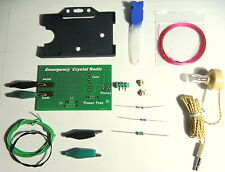 Poldhu Crystal Radio  DIY KIT  germanium diode  AM receiver with card Holder