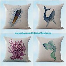 Us Seller, 4pcs cover for pillow cushion covers whale turtle jellyfish
