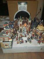 Members Mark 2005 34 Pc. Victorian Village  Lighted  Christmas Set Grandeur Noel
