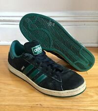 Adidas Campus Mens Shoe 10.5 Black Suede   Green Low Tops a87c87aab