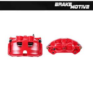 For Front Red Powder Coated Brake Calipers Pair For Set 2012 2013 FORD F150