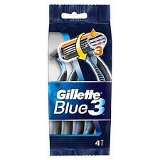 Gillette Azul 3 maquinillas de afeitar desechables para hombre, 4 Razors