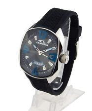 Chronotech Herren Uhr RW0049 Ziffernblatt schwarz Kautschukband Datum NEU