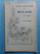 Reclams Béarn Gascogne N° 7 1938 Saint-Bézard Tucat Andréu Pic Sabathé Palay