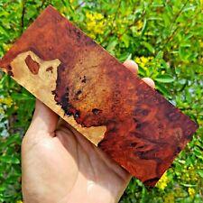 Burl Exotic Amboyna Lumber Turning Knife Scales Grips Block Blanks Craftwood