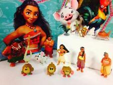 12Pcs Disney Movie Moana Maui Pua Heihei Decro Mini Action Figures Toys Gift Set