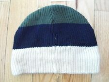 The Children's Place Boys Striped Hat 10-14 Green Brown White 50% Off NWT New