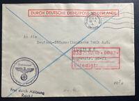 1940 The Hague Netherlands German Dienstpost Cover To Berlin Germany
