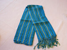 Avon Womens Ladies Mark Create A Spark Scarf striped Turquoise blue NEW;;