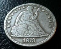 """Lot of 5- 1873 CC Seated Liberty Dollar Fantasy Set Of 5 Marked """"COPPY"""""""