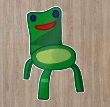 Cute Frog Chair New Horizon Game Vinyl Decal Laptop Quote Cartoon Sticker