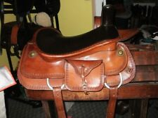 "SIDESADDLE COMAL WESTERN SADDLE 20"" SEAT WIDE TREE LIGHT OIL show~trail~pleasure"