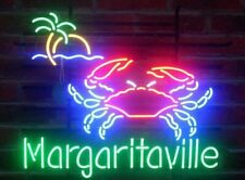 "New Crab Open Margaritaville Palm Tree Beer Bar Neon Light Sign 24""x20"""
