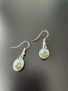 Saint Expedite Earrings Handmade