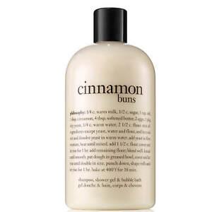 Philosophy Cinnamon Buns 16 oz Perfumed Shampoo, Shower Gel,Bubble Bath, SEALED