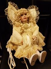 "Vintage Porcelain Electrically Moving wings and hands Angel Doll 24""tall"