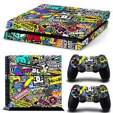 Vinilo PS4 Skin Playstation 4 Pegatina para Personalizar Consola - Logotipos