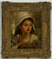 Alfred Dever - Superb British Late 19th Century Oil, Waiting for the Cows
