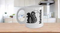 Manitoba Mug White Coffee Cup Gift for Canadian Province Travel Nordic Squirrel