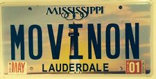 Vanity MOVING ON license plate Let Go Continue Stop Loving Leave Away   Feel Sad
