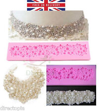 3D Pearl Beads Necklace Cake Decorating Flexible Silicone Mould Sugar Craft Cake