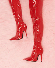 Jeffrey Campbell GAMORA Thigh High Red Latex Boots (ONLY WORN ONCE!)