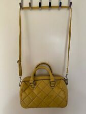 Mango Yellow Quilted Mini Tote Bag With Detatchable Strap
