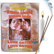 SPIRITUAL PLANT BATH:LUCK & LOVE CATCH Herb Wash Bano Despojo ATRAPA SUERTE AMOR