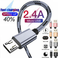 For Samsung Galaxy Note 5 4 3 2 2.4A Micro USB Fast Charging Cable Data Charger