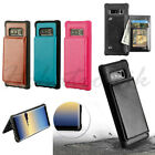 Samsung GALAXY Note 8 Card Pocket Flip Wallet Leather Phone Case Cover TPU Stand