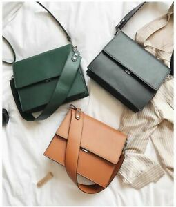 Women Fashion Simple Commute Briefcase Ladies Summer Small Square Shoulder Bags