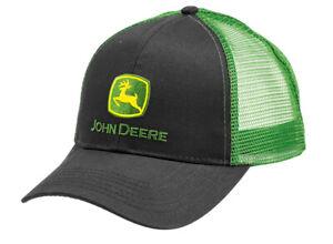 John Deere Trucker Cap Schwarz Grün Basecap Mütze Kappe Baseball Herren 2021