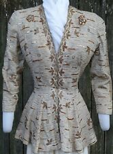 VINTAGE GOLD EMBROIDERED LADY'S DINNER JACKET c.1930s WEARABLE!!!