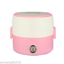 Pink 1.2L Mini Electric Heating Cookers Steaming Cooking Kitchen Rice Cooker