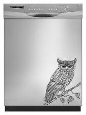 Owl Tribal Decal Sticker for Dishwasher Refrigerator Washing Machine Stove Dorm