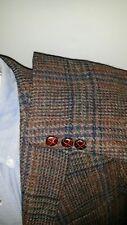 42L Welsh Tweed British French Brown Blue Tweed Blazer Sport Coat Jacket harris