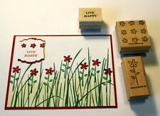 Lot of Stampin up stamps~Daisies flower live happy~ used with inspired by nature