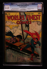 1943 DC World's Finest #12 CGC 3.0 Cream to Off White Pages