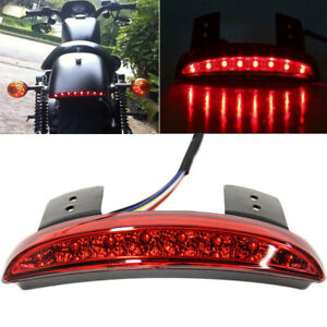 Red Motorcycle Bobber Chopper Cafe Racer LED Rear Turn Signal Brake Tail Light