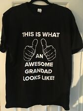 T Shirt Mens Size XL Awesome Grandad Perfect Christmas Gift New