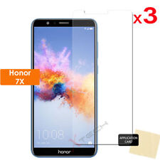 3 Pack of CLEAR LCD Screen Protector Cover Guards for Honor 7X