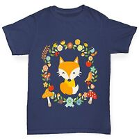 Twisted Envy Boy's Floral Fox T-Shirt
