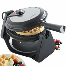 VonShef 1000w Rotating Waffle Maker With 20cm Non-stick Plates Adjustable -