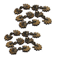 10 Pairs Chinese Frog Closure Buttons Flower Knot Fastener Sewing Craft Handmade