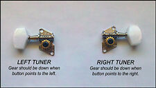 Cigar Box Guitar Parts: 6pc. Open-Gear Guitar Tuners/Machine Heads      31-01-01
