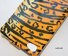 iPHONE 4 4G 4S -HARD PROTECTOR CASE COVER GOLD YELLOW BLACK LEOPARD CHEETAH SKIN