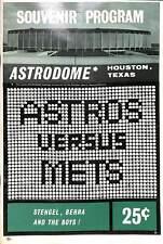 Astros VS Mets 1965 Astrodome Program Baseball Players Advertisements CPG9