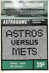 Astros VS Mets 1965 Astrodome Program Baseball Players Advertisements CPG9
